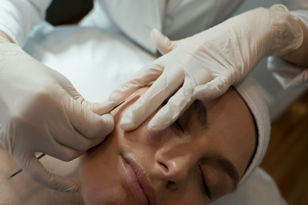 Dermaplaning treatment at JTAV Clinical Skincare