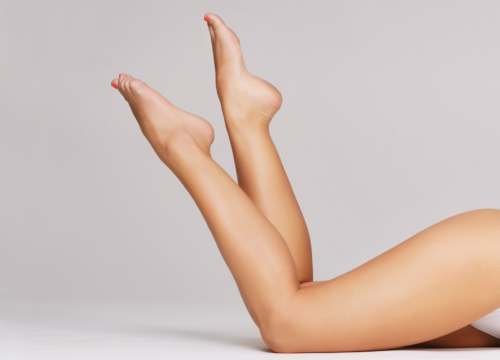 Beautiful woman's legs free of cellulite